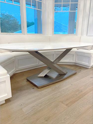 Minimalist dining table base, metal table base, custom dining table, granite dining table, conference table