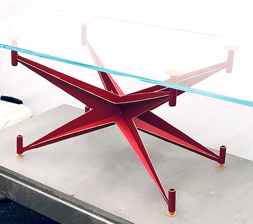 red and gold Art Deco coffee table