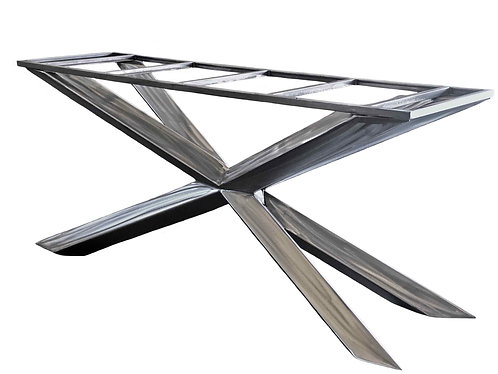 Tall Metal Table Base | Counter or Bar Height | Cross