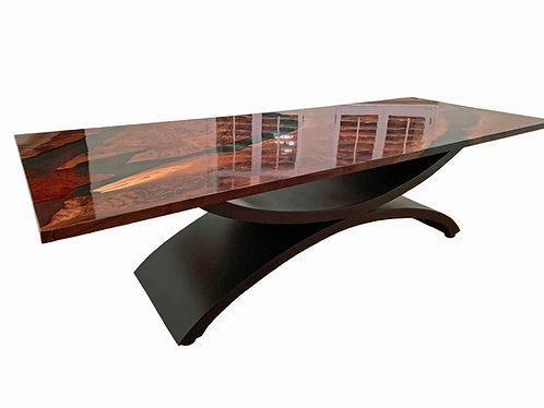 Luxury Metal Table Base | Statement Table | Double Arch