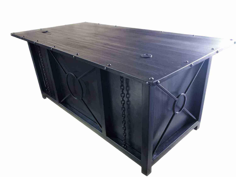 Industrial-Metal-Executive-Desk