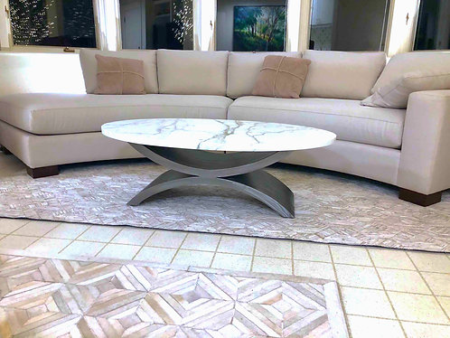Bespoke Metal Coffee Table Base  | Double Arch