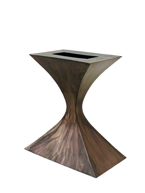 pedestal console table, Saarinen style tulip table, metal table base, custom console table, small console table base