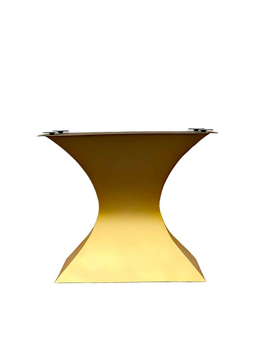Art Deco Pedestal Table, Glass Hourglass table, Metal and Glass dining table, custom dining table, luxury dining table
