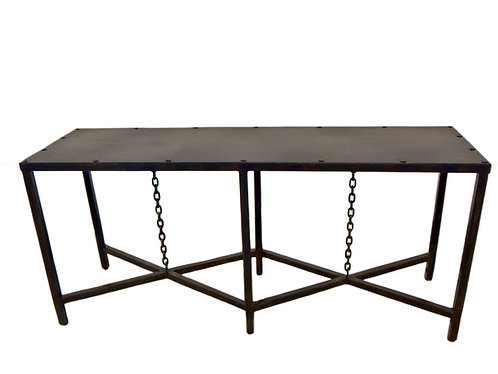 Chain Console Table, Industrial Console