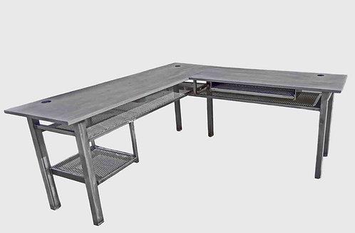 Industrial Desk, Industrial Metal Desk with Shelf, Custom industrial Desk