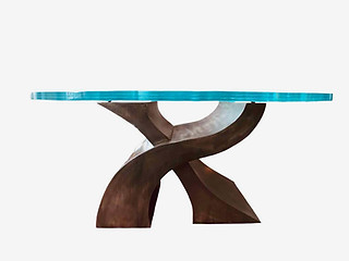 Glass Art Deco Dining Room Table by Invi