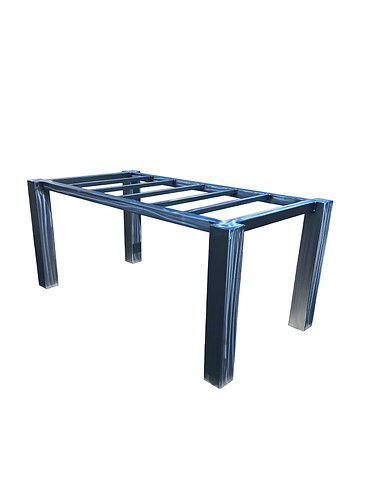 "Metal Dining Table Base | Metal Desk Legs | 4"" Offset Metal Table Legs"