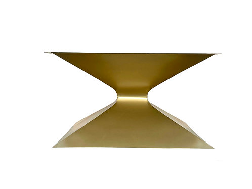 """Square Hourglass Table Base for Round or Square Tables 