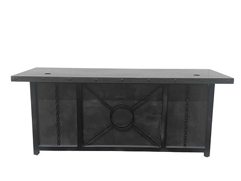 Industrial Desk with Drawers | Matching Credenza Available  | Chain Desk