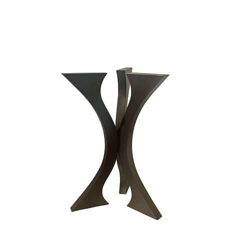 Tall Center Hall Table Round | Metal Pedestal  | Sculpture Table