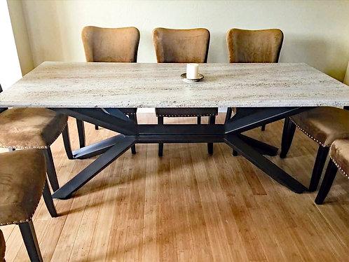 trestle table legs, trestle table base, metal trestle table, dining table trestle, writing desk, custom trestle base