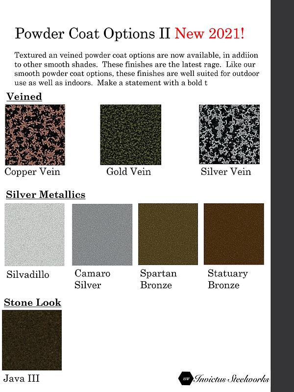Luxury powder coat metal table base finishes