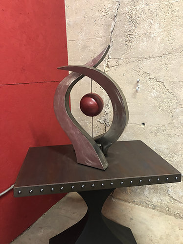 table top sculpture, abstract sculpture, statement sculpture, steel sculpture, metal art