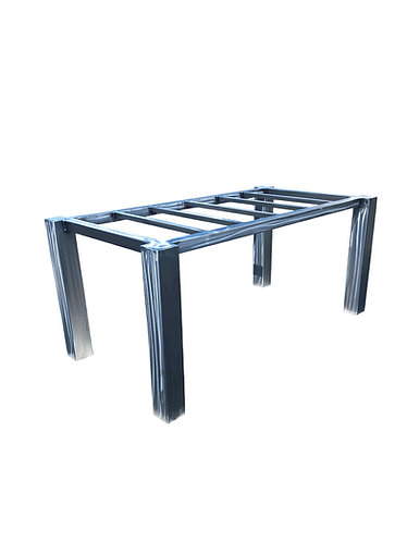 metal desk base, metal table base, custom metal table base, crate and barrel, parsons table, custom desk base, writing desk b