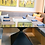 Thumbnail: Black Pedestal Table for Glass   Metal Table Base   Square Hourglass