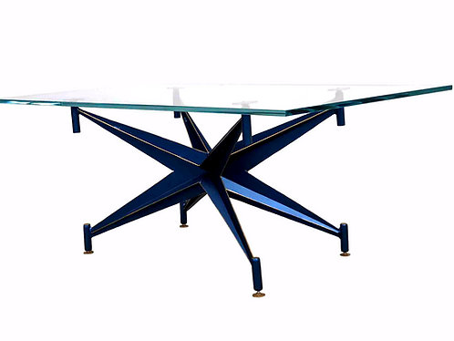Glass coffee table, bespoke coffee table, Art Deco furniture