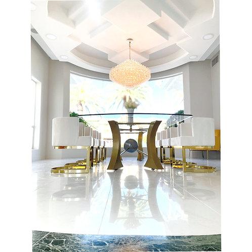 Luxury modern dining room table base, steel table base, conference table base, dining table base for glass, handmade table