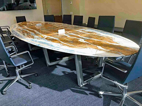 Modular Trapezoid Smart Conference Table - Built to Suit