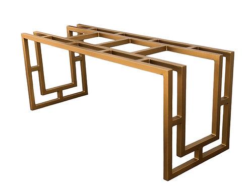 Rectangular Metal Table Base   Art Deco Table or Desk Base