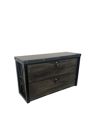 Industrial Credenza | Custom Filing Cabinet | Industrial Console with Drawers