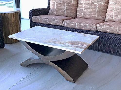 metal coffee table base, coffee table legs, custom coffee table, arc coffee table, modern coffee table, pedestal coffee table