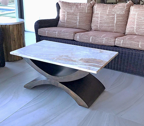 Metal Coffee Table Base in Antique Bronze Patina