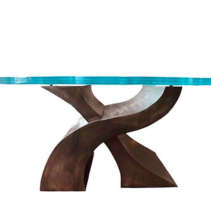 Pedestal Table Base Dining Table | Foyer Table | Wave Table