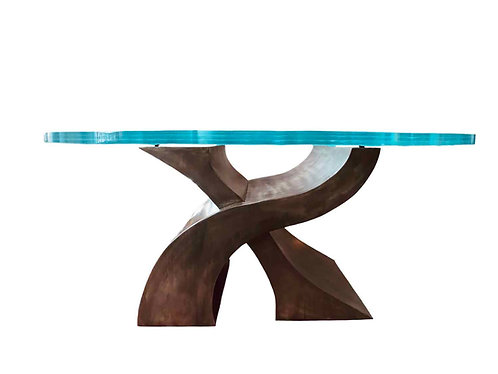 Luxury Glass Dining Table, Modern Dining Table, Luxury Rustic Dining Table, Industrial Dining Table