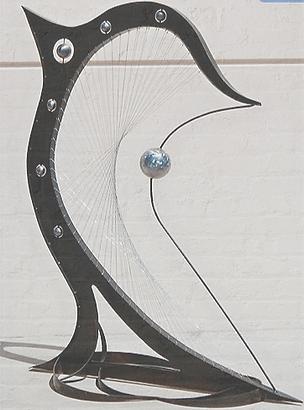 Large Metal Sculpture | Music Art