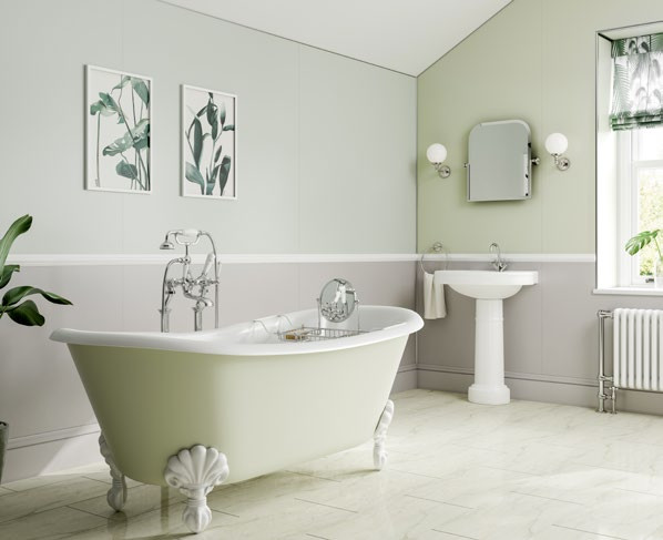 Perth bathroom renovation using Heritage Spapanels