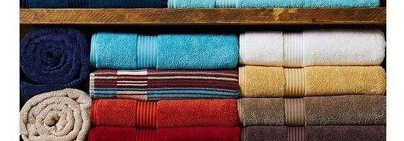 coloured egyptian towels