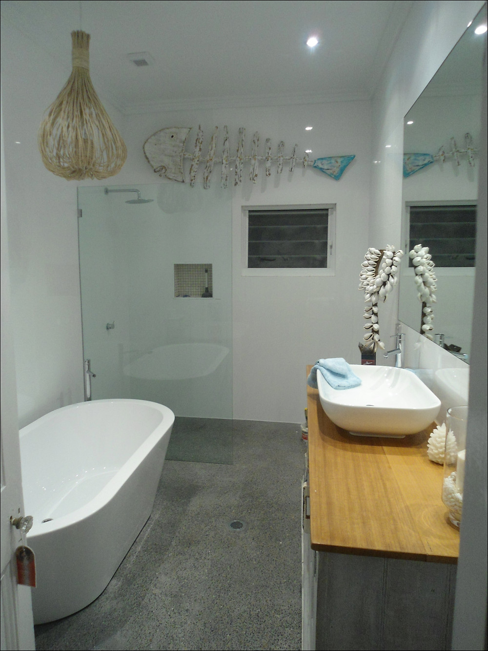 small bathroom with freestanding bath Perth