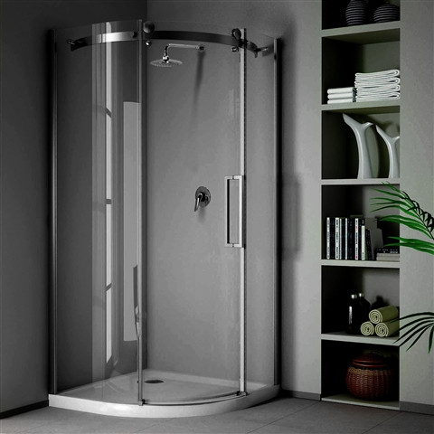 Quadrant shower with wet wall panels perth, alternative to tiling