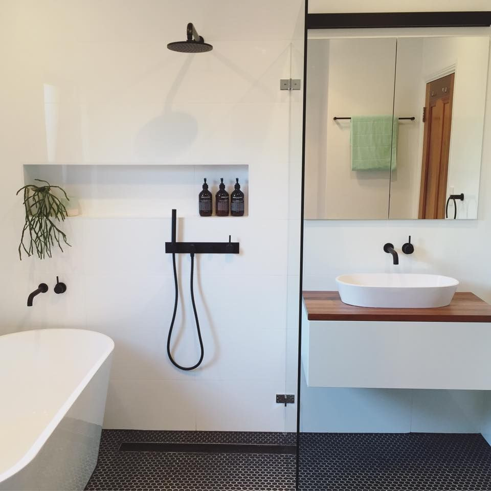 small bathroom renovation joondalup with freestanding bath and seperate shower