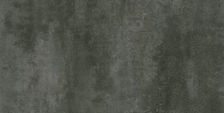 Silk Scarf Black Silver