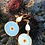 "Thumbnail: Sea Urchin motif  Gold plated earrings ""Achinos"""