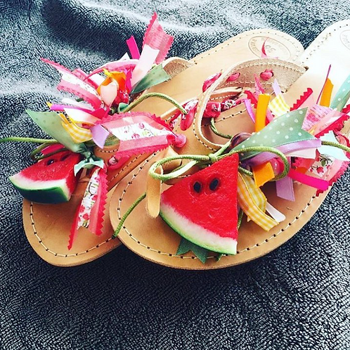 "Sandals for kids ""WATERMELON"""
