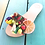 Thumbnail: Leather sandals embellished with fruits and crystals - TROPICANA