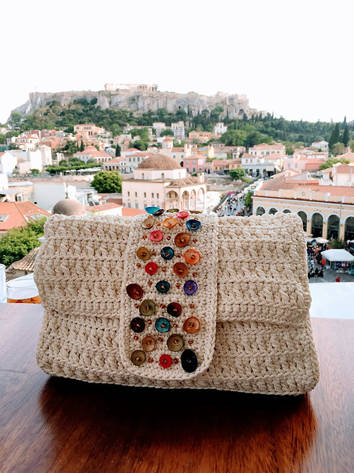 Crochet Handwoven Crossbody Bag - ATHENA
