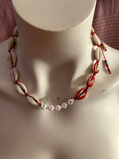 Beaded Shell Chocker Necklace - Selia