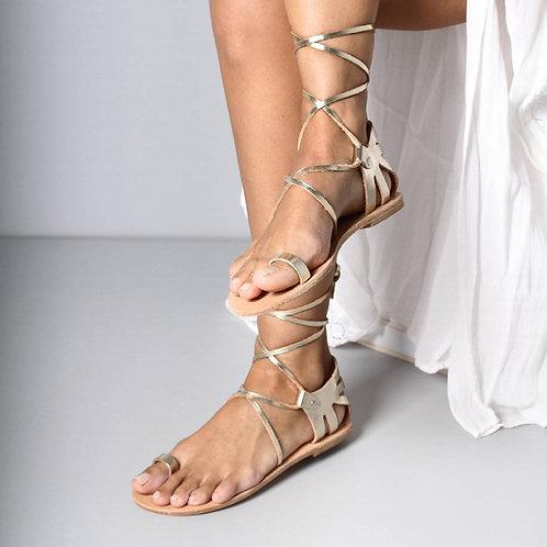 Dione - Greek Leather sandals-Gladiator sandals
