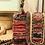 Thumbnail: Indian saris loomed leather shoulder bag - MEDEA
