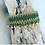 Thumbnail: Macrame Woven Green- Gold bracelet - CALISTO