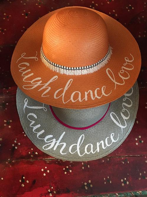 "Original Panama Hand Painted Hat - ""Salinas"""