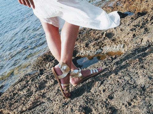 Hermes - Handmade Greek Leather sandals with wings