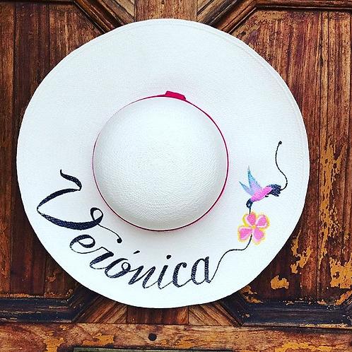 "Original Panama Hand Painted Hat - ""Esmeraldas"""