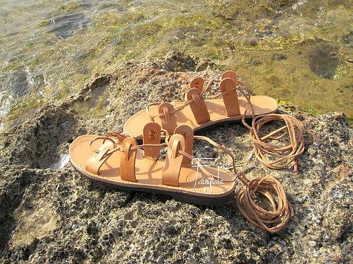 "Lace up Greek Leather sandals  ""Artemis"""
