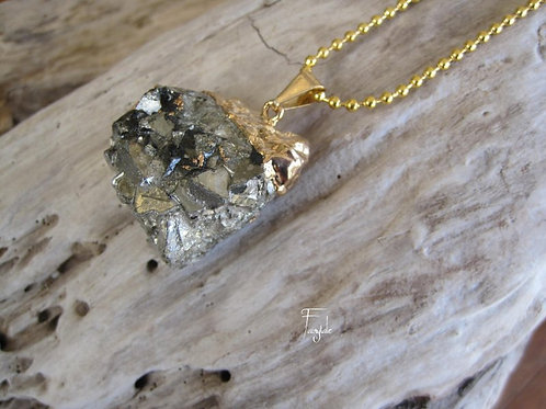 Drusy Pyrite Necklace