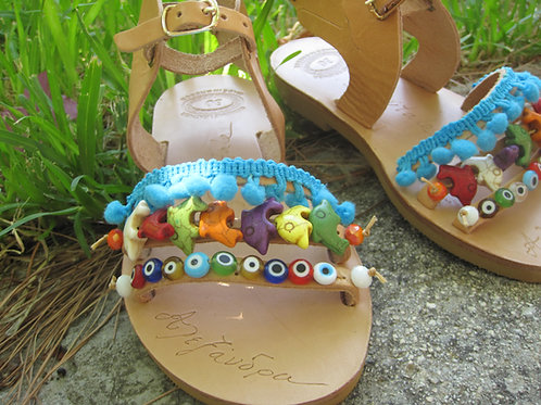 Sandals for kids with wings/ Baby sandals - Summer